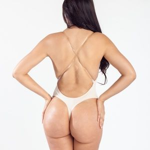 1325bbe27b magic curves Intimates   Sleepwear - MAGIC CURVES PLUNGE BACKLESS THONG  BODYSUIT (NUDE)